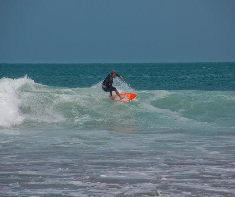 Surfer on Mancora, Peru