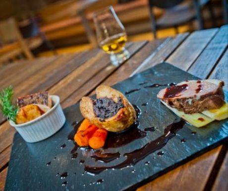 Scottish Food with Whisky