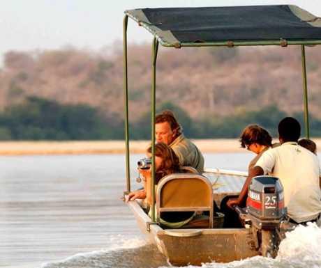 Selous Reserve Tanzania boating on Rufiji River