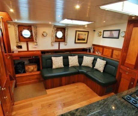 The Randle barge cruise interior
