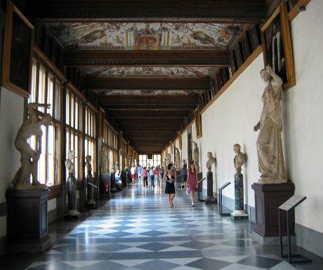 first time florence uffizi