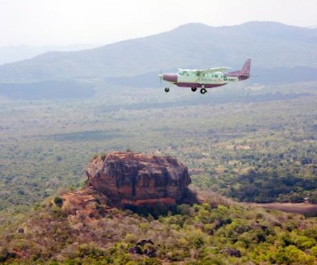 Birds eye view - Sigiria flight