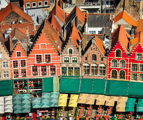 Bruges from the air