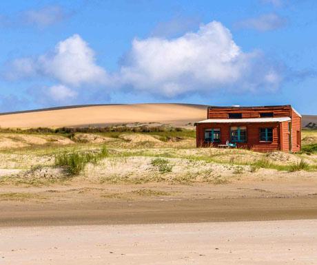 Sand dunes in Cabo Polonio, Uruguay