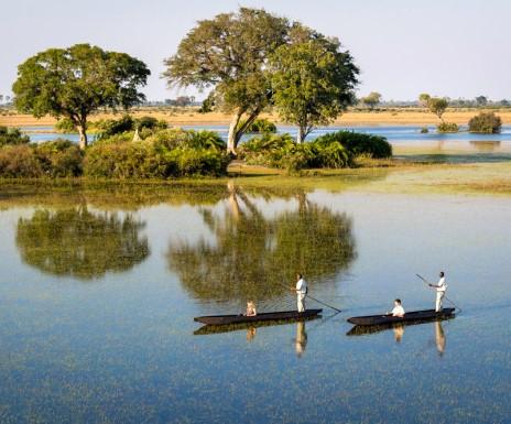 Dug Out Canoe (Mokoro) from Jao Camp in Botswana