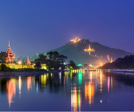 Fascinating Myanmar-Mandalay mountain and kyone gyi