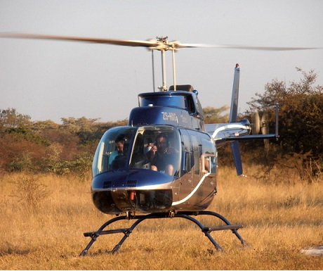 Monate Game Lodge: helicopter flight