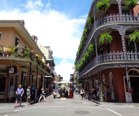French Quater of New Orleans in the USA