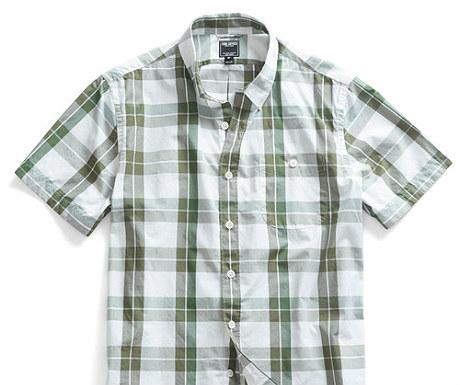 Gordon sage check short sleeve shirt from Todd Snyder