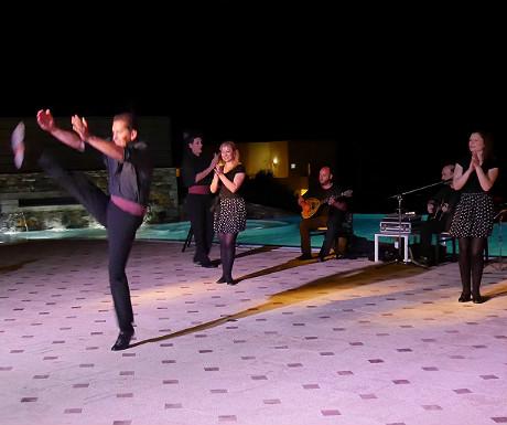 Greek night dancing