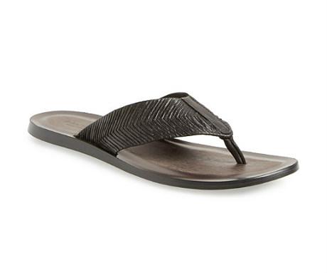 John Varvatos Collection artisan leather flip flop