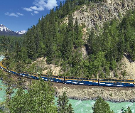 Rocky Mountaineer in the Kicking Horse Canyon
