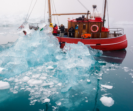 Frans Lanting (in red parka) with Visionary Wild Greenland
