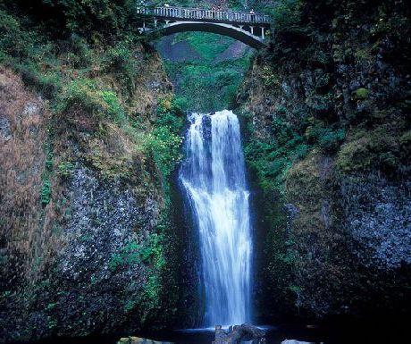 Multnomah Falls, Historic Columbia River Highway 08-1 by Sumio Koizumi