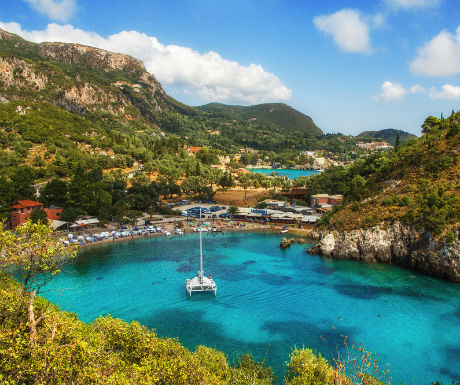 Paleokastritsa Bay Corfu Greece