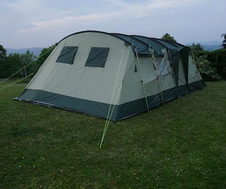 Skandika tent erected