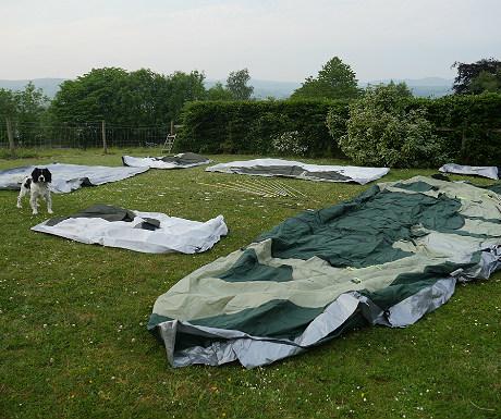 Skandika tent laid out