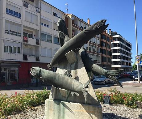 Anchovies statue in Santona