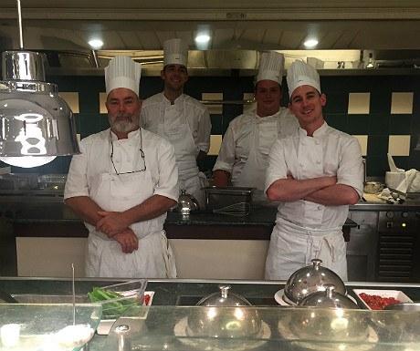 Brittany Ferries restaurant chefs