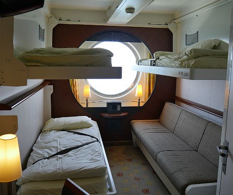 Cabin with beds down