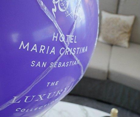 Hotel Maria Cristina balloon close-up