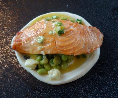 Mansarda St Petersburg Russia-Smoked Salmon Vegetable Risotto