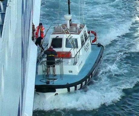 Pilot boarding the ferry