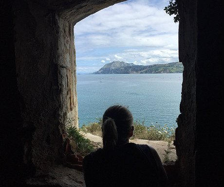 View from the fort in Santona
