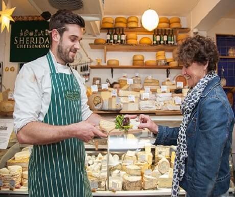 Galway market cheesemonger