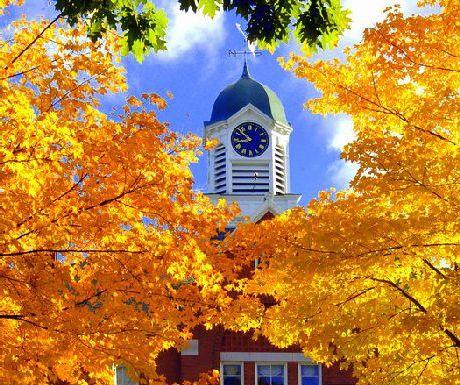 Maine Church in the Fall
