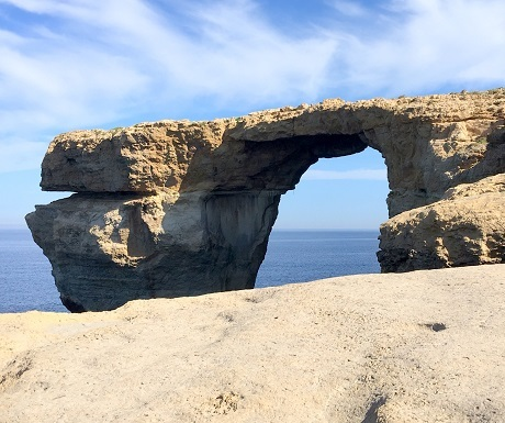 Ancient geological rock formations at Comino, Malta