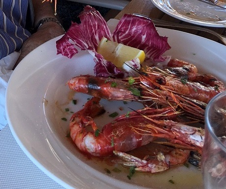 Huge prawns are a speciality in Malta
