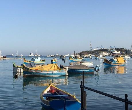 Harbour scene at Valetta, Malta