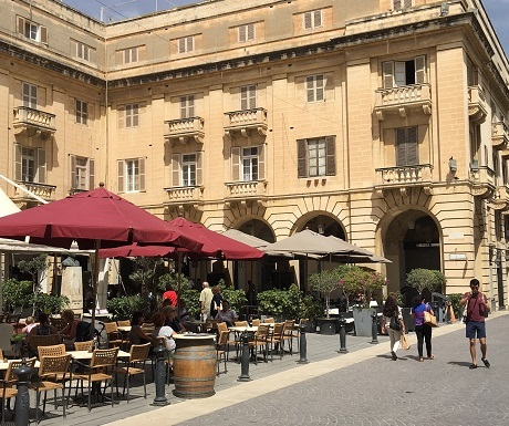 Street restaurant Valetta, Malta