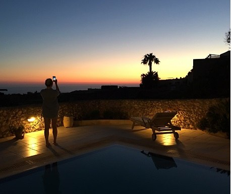Sunset from luxury rental villa, Gozo