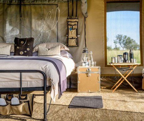 Singita explorer mobile camp luxury bedroom suite Serengeti Tanzania