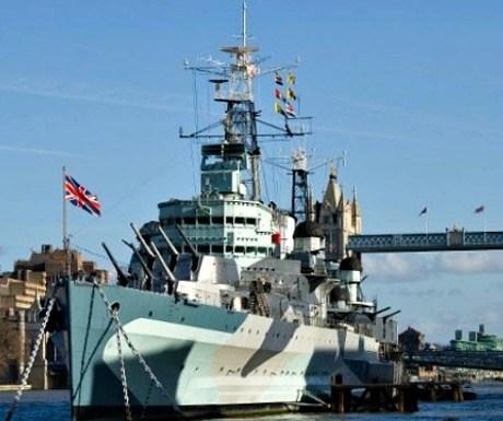 Things in london with kids - HMS Belfast