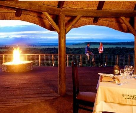 Romantic terrace view