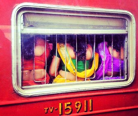 colourful-sarees-on-the-train
