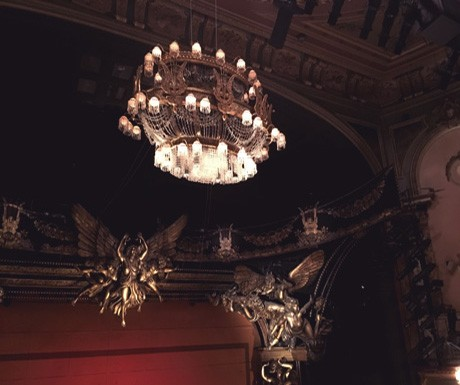 The chandelier