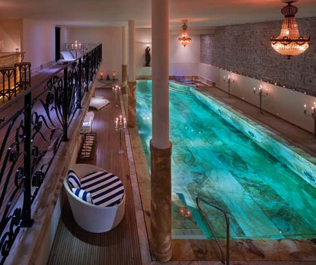large-indoor-pool-expensive-chalet
