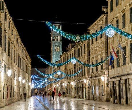 Stradun winter lights