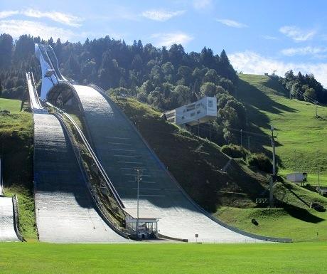 Scenic walk: Eckbauer to Garmisch Partenkirchen-Olympiac stadium