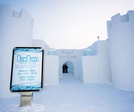 Demi snow castle entrance - Finland