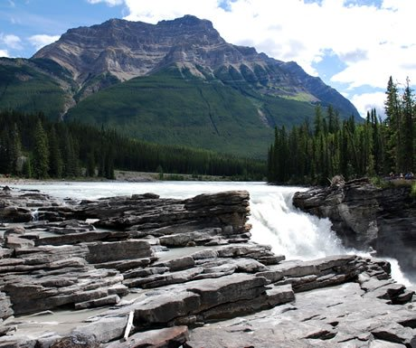 Athabasca Falls in the Icefields Parkway, Canada