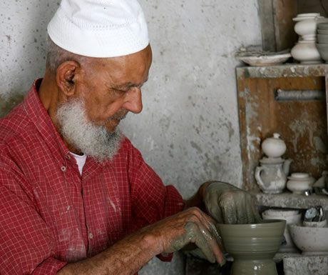 Craftsman in Fez, Morocco