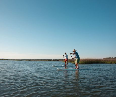 Paddling Boarding at Hilton Hed