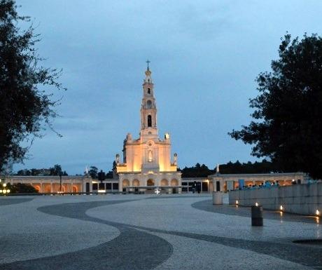 Sactuary Lady Fatima at night, Fatima, Portugal
