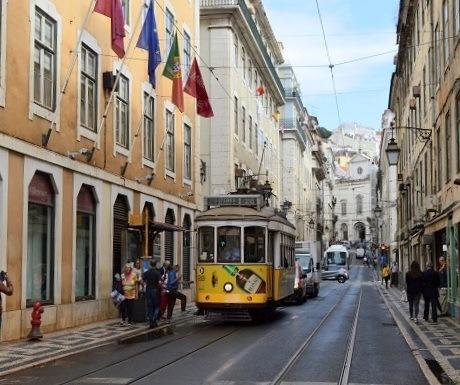 Street scene in Lisbon, Portugal