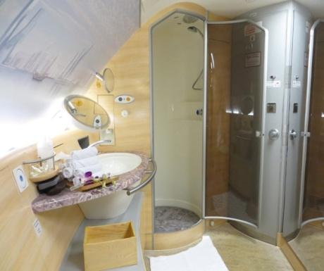 Emirates A380 Shower